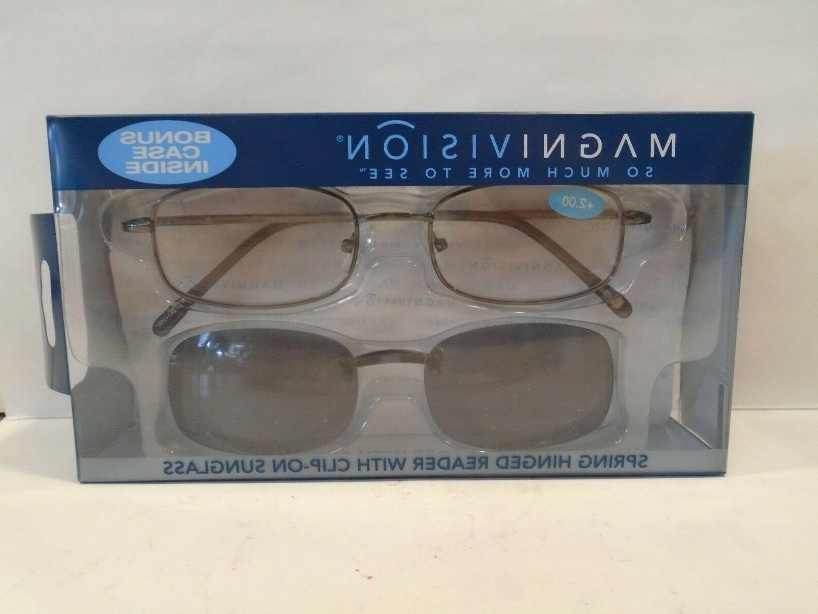magnivision 200 reading glasses by w case
