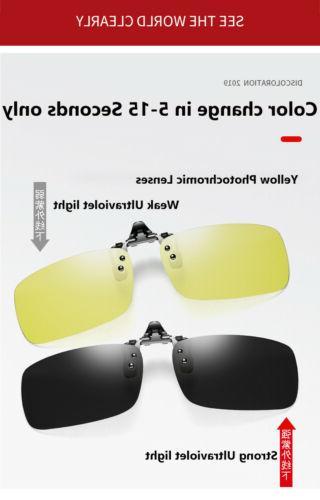 Polarized Clip Up Unisex Shades for Myopia