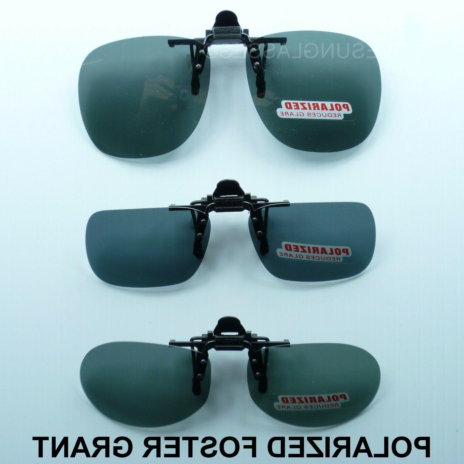 polarized flip up clip on sunglasses fish