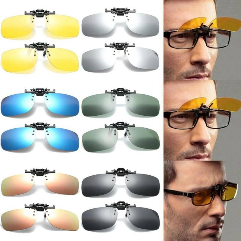Polarized Flip Up Clip On Sunglasses Fishing Men Women UV Pr