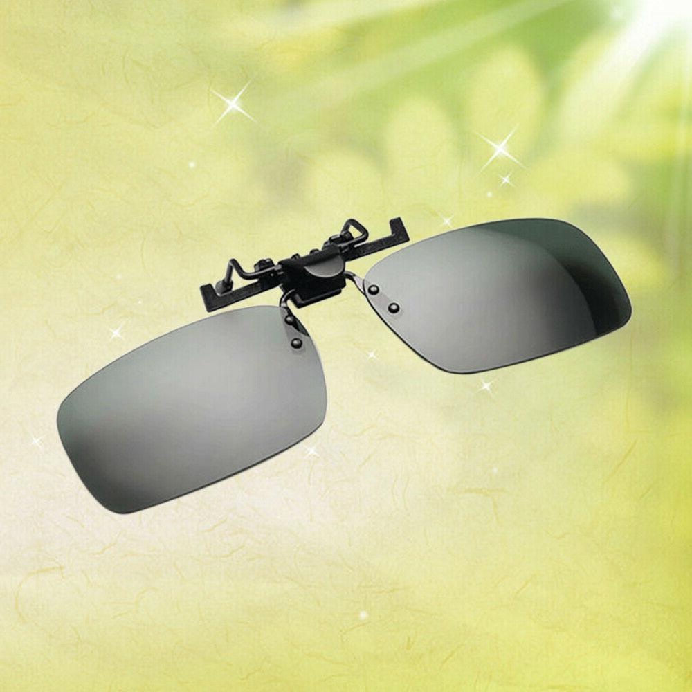 Unisex Polarized Sunglasses Clip Drive Goggles Resin