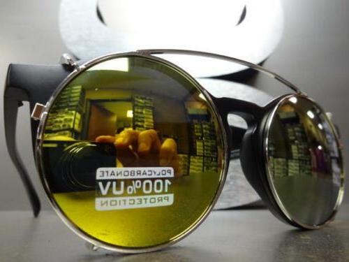VINTAGE 60s Style Clear Lens CLIP GLASSES Fashion