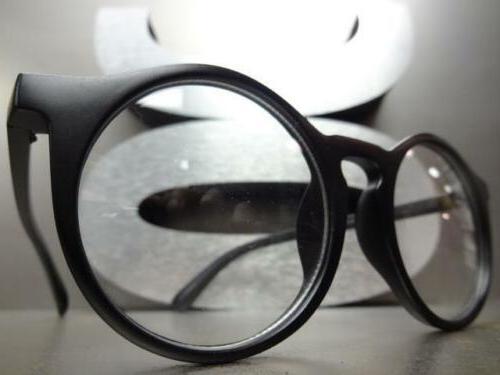 VINTAGE 60s Style Lens ON GLASSES Round Fashion Frame