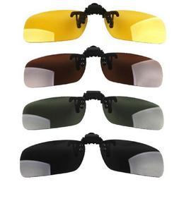 Light Weight Unisex Clip On Flip Up Sunglasses Glasses Sun M