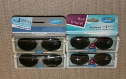Lot of 4 Solar Shield Polarized Clip on Sunglasses 46 Oval2