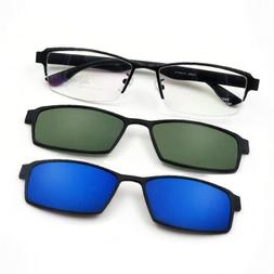 Magnetic Clip-on Sunglasses Metal Eyeglass Frames Spectacles