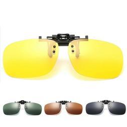 Men Sunglasses Polarized Clip On Driving Glasses Night Visio