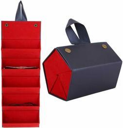 MoKo Multiple Slots Sunglasses Travel Organizer Case Foldabl
