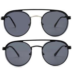 Natwve&Co Magnetic Lens Polarized Sunglasses Clip On Retro R