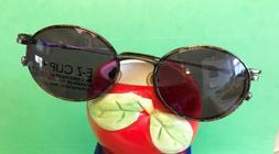 New EZ-CLIP Eyeglasses Magnetic Clip-On Sunglasses Antique S
