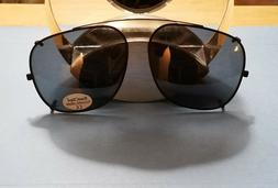 New Large Squarish Clip-On Sunglasses SunClips 58MM Claw Cli