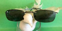 New Men's VERSO Eyeglasses Magnetic Clip-On Sunglasses RX Fr