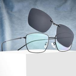 new oversized eyeglass frames clip on magnetic