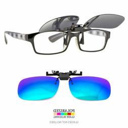 New Polarized Flip Up Clip On Sunglasses UV 400 Protection F