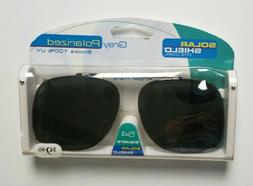 NEW Solar Shield Scratch Resistant Lenses Polarized Clip-Ons