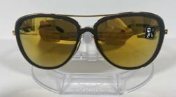 New Oakley Split Time Sunglasses Black Velvet w/ 24K Iridium