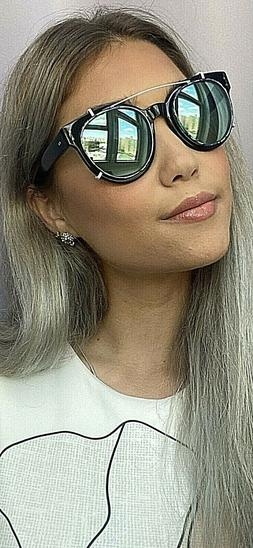 New Garrett Leight Thierry Lasry Black 50mm Sunglasses w/cli