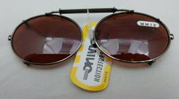 09151 51MM NEW DRIVING UV Eye Protection Clip on Sunglasses