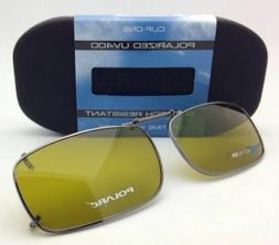 New COCOONS Yellow Polarized Sunglasses/Eyeglasses Rx Clip-o