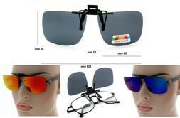 NWT Edison Polarized Clip On Sunglasses Glare Shield Lens
