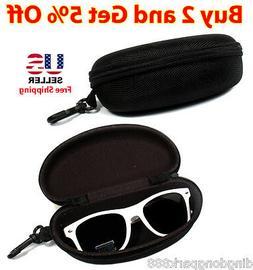 Nylon Semi-Hard Zipper Black Eyewear Sunglasses Eyeglasses C