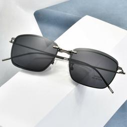 Oversized Retro Eyeglass Frames Clip-on Magnetic Polarized S