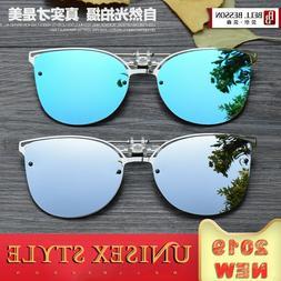 Photochromic Polarized Clip On Flip Sunglasses UV Driving Re