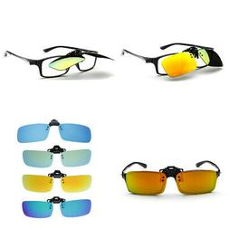 Polarized Clip-on Driving Sunglasses with Flip Up, Anti-Refl