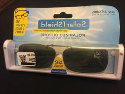 Solar Shield Polarized Clip on Sunglasses 52 Rec A~W/Case~Sc
