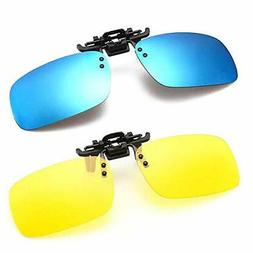 Polarized Clip-on Sunglasses Anti-Glare Driving Glasses for