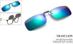 Polarized Clip On Sunglasses Flip Up Glasses Glare Blocking
