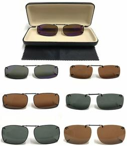 Polarized Clip-On Sunglasses Over Glasses Comes With Hard Ca