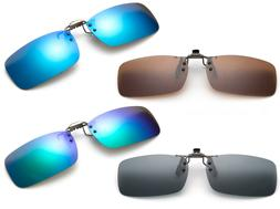 Polarized Flip Up Clip On Sunglasses Blue Fishing Men Women