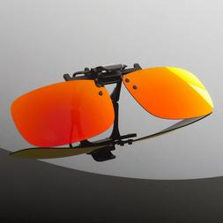 Polarized Flip Up Clip On Sunglasses  UV 400 Protection Fish