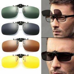 Polarized Flip Up Clip ON Sunglasses Fishing Frame Lens 100%