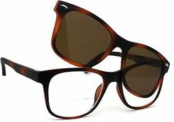 Polarized Magnetic Clip On Shade Sunglasses Bifocal Reading