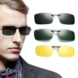 Polarized Sunglasses Clip on Glasses Frame Shade Driving