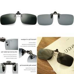 Pro Acme Polarized Clip-On Flip Up Sunglasses Wear Over Pres