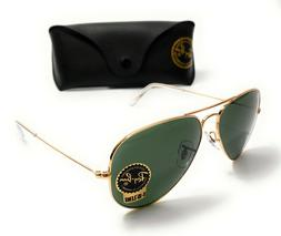 Ray Ban RB 3025 L0205 Gold Unisex Aviator Large Authentic Su