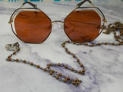 retro beaded clip on chain for sunglasses