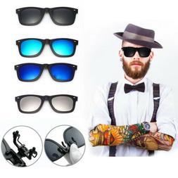 Retro Style Polarised Clip On Flip Up Myopia Sunglasses Kids