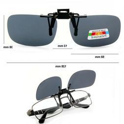 Slim/Small Rectangular Clip On Flip/Up Fit Over Sunglasses P