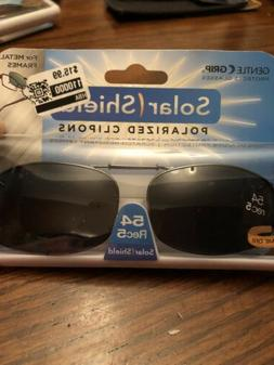 Solar Shield 54 rec 5 lens ultralight Clip on Sunglasses Wit