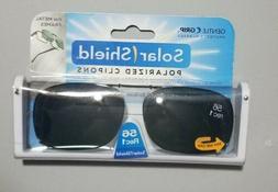 SOLAR SHIELD Clip-on Polarized Sunglasses 56 Rec 1 Scratch R