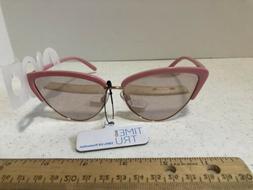 Time and Tru Sunglasses Cat Eye 50s Retro Look Pink Beach 10