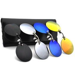 fashion round clip on nose sunglasses men