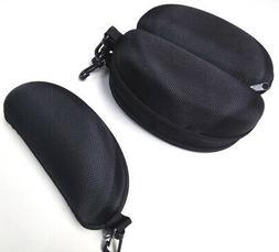 Five Black Zipper Cases with Belt Clip for Sunglasses or Saf