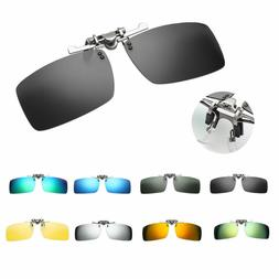 Unisex Polarized Clip-on Flip-up Sunglasses Driving Lenses C