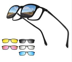 Vision, Polarized,Tr90 Magnetic Sunglasses, Clip Lens Swappa